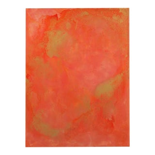 Abstract Orange and Coral Painting For Sale
