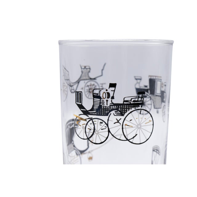 A set of four mid century glass tumblers designer by Freda Diamond for Libbey Glass Company's Curio collection. Glasses...