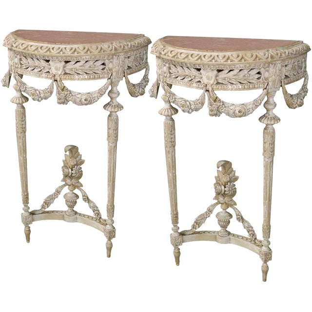 19th Century Pair of French Louis XVI Consoles For Sale