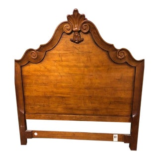 Queen French Walnut Bedframe For Sale
