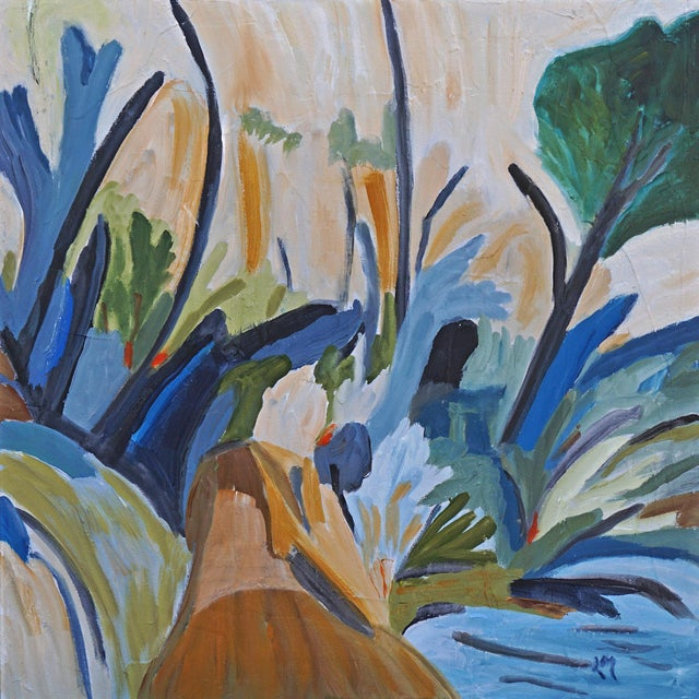 Breath of Fresh Air reflects the artist's love of the outdoors. This acrylic painting is on gallery wrapped canvas. It is...