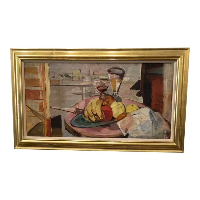 Mid-Century Still Life Painting For Sale