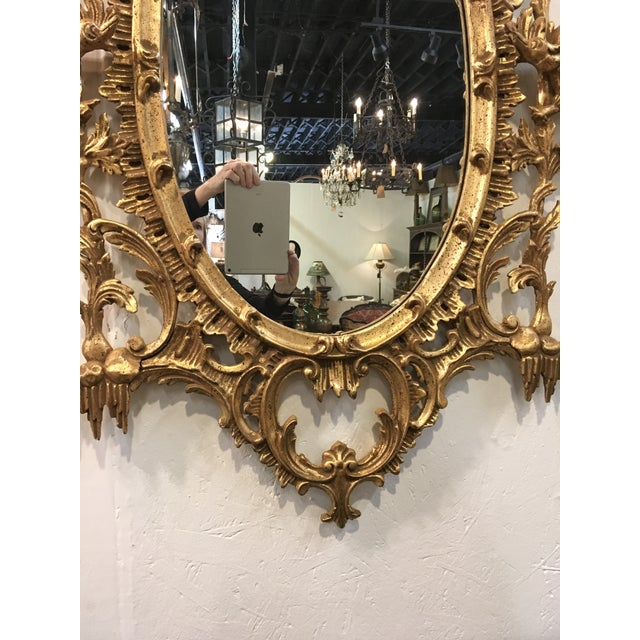 Chinese Chippendale Style Giltwood Mirror For Sale In Atlanta - Image 6 of 8