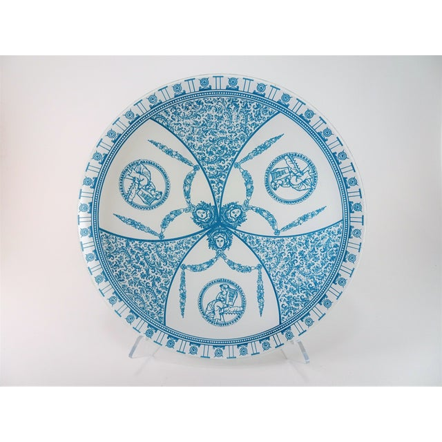 French Vintage French Neoclassical Style Glass Serving Plate Tray For Sale - Image 3 of 13