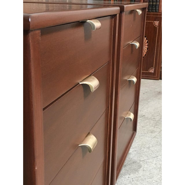 Mid-Century Modern Edward Wormley for Drexel Wood Precedent Nightstands - a Pair For Sale - Image 9 of 11