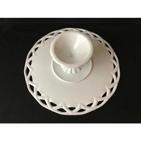 Pitman-Drietzer Colony Edge Cake Stand This stunning large cake stand was made by Pitman Dreitzer circa the 1950s. It...