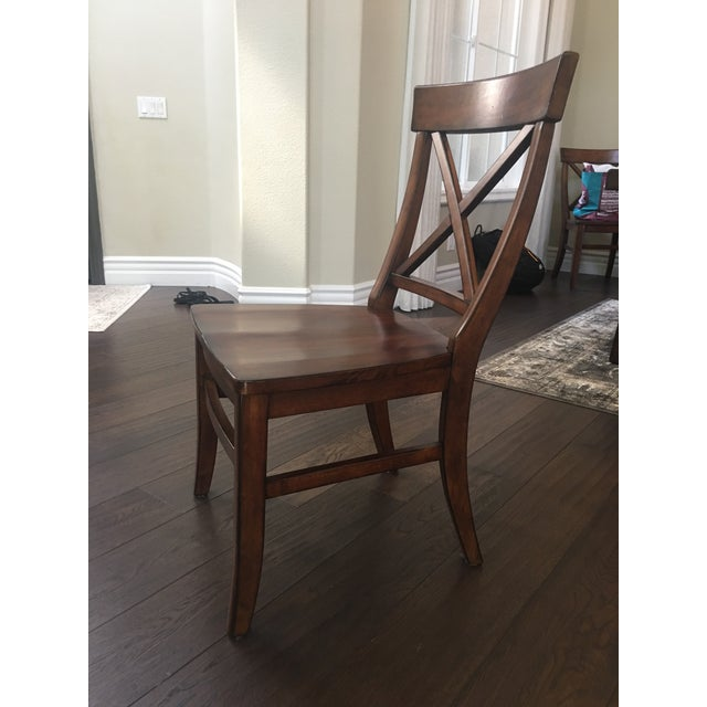 Pottery Barn Aaron Wood Seat Chairs - Set of 8 For Sale - Image 4 of 8