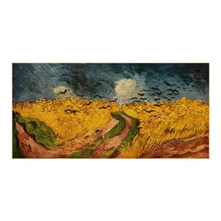 """1950s Vincent Van Gogh """"Crows Over the Wheat Field"""", Post-Impressionist First Edition Lithograph For Sale"""