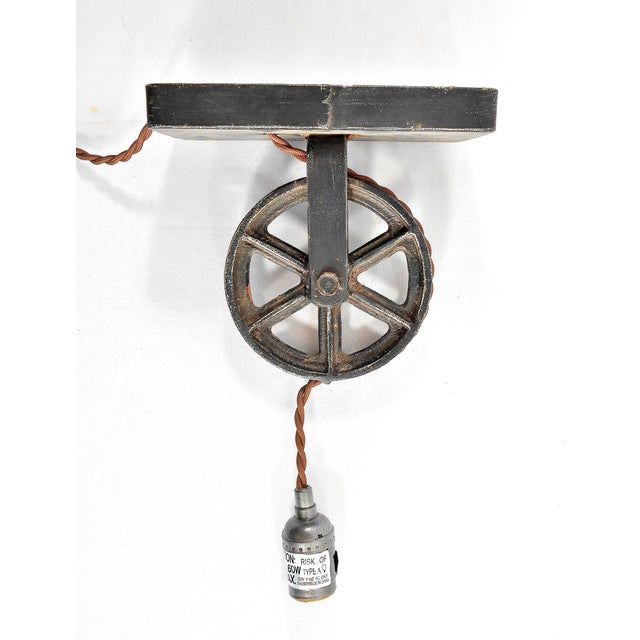 Industrial Factory Wheel Sconce Lamp – Large Size - Image 4 of 6