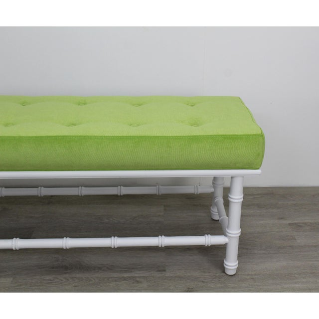 1960s Mid-Century Palm Beach Style Bench For Sale - Image 5 of 9