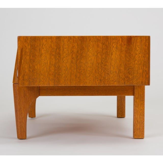 Wood Single Bench With Storage by John Keal for Brown Saltman For Sale - Image 7 of 13