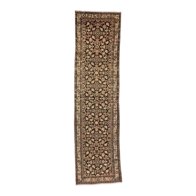 Antique Persian Malayer Carpet Runner with Traditional Modern Style For Sale