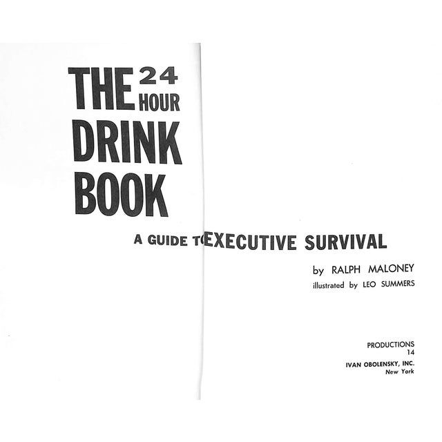"American ""The 24 Hour Drink Book: A Guide to Executive Survival"" Book For Sale - Image 3 of 6"