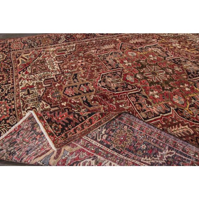 "Islamic Apadana - Vintage Persian Heriz Rug, 9'2"" x 11'6"" For Sale - Image 3 of 7"