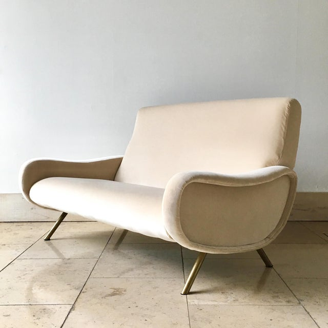 Early Marco Zanuso Designed Two Seater Sofa Circa 1950 For Sale - Image 10 of 10