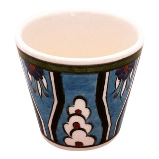 Hulya Contemporary Handpainted Espresso Cup From Tamam For Sale