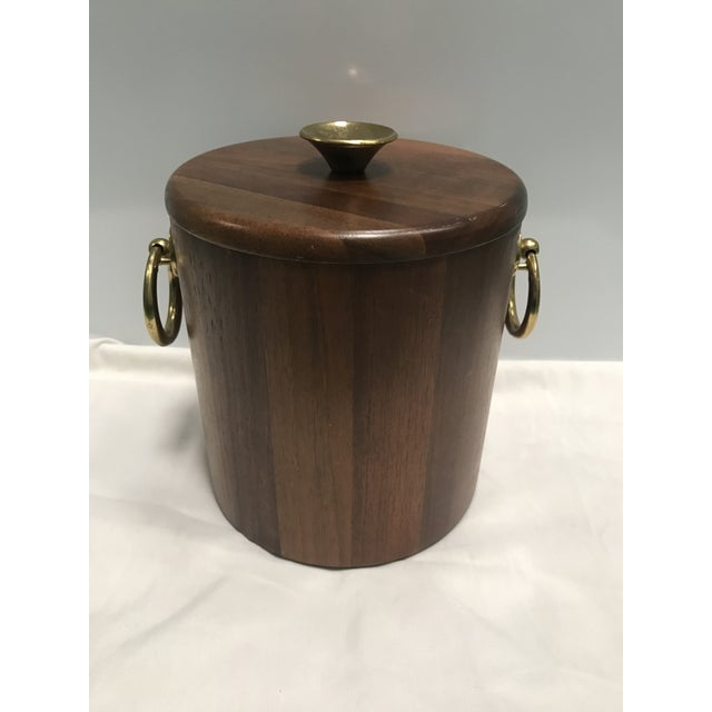 Walnut Mid-Century Ice Bucket - Image 2 of 5