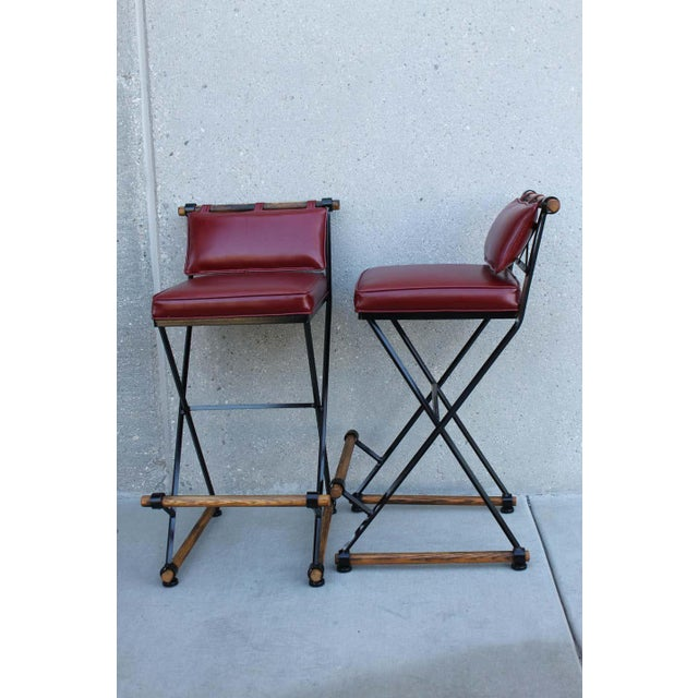 Cleo Baldon Style Bar Stools-a Pair For Sale - Image 4 of 9