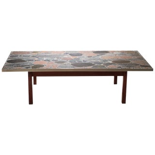 Large Stones and Brass Coffee Table by Torbjørn Afdal, 1960s For Sale