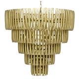 Image of Industrial Modern Brass Finished Chandelier For Sale