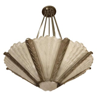 Stunning French Art Deco Chandelier by Gênet Et Michon For Sale