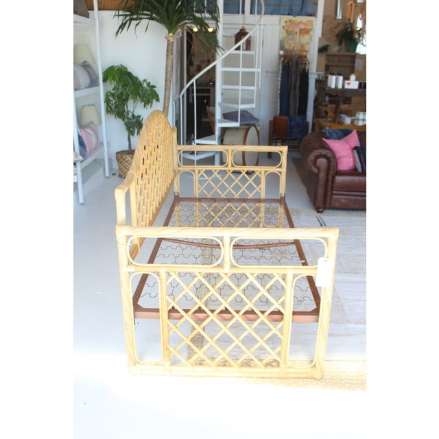 Brown Rattan Daybed Frame For Sale - Image 8 of 11