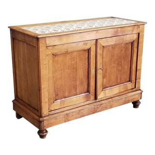 Antique Country French Provincial Solid Cherry Sideboard For Sale