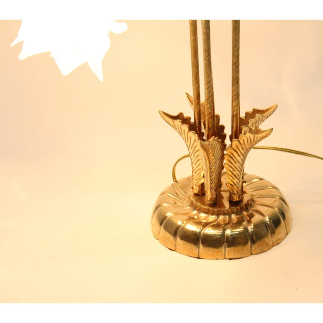 Vintage Brass Lamp With Rose Petal Shades - Image 6 of 6