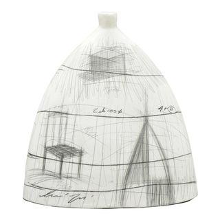 Zabcos B Italian Mid Century Modern Glazed Ceramic Vase For Sale