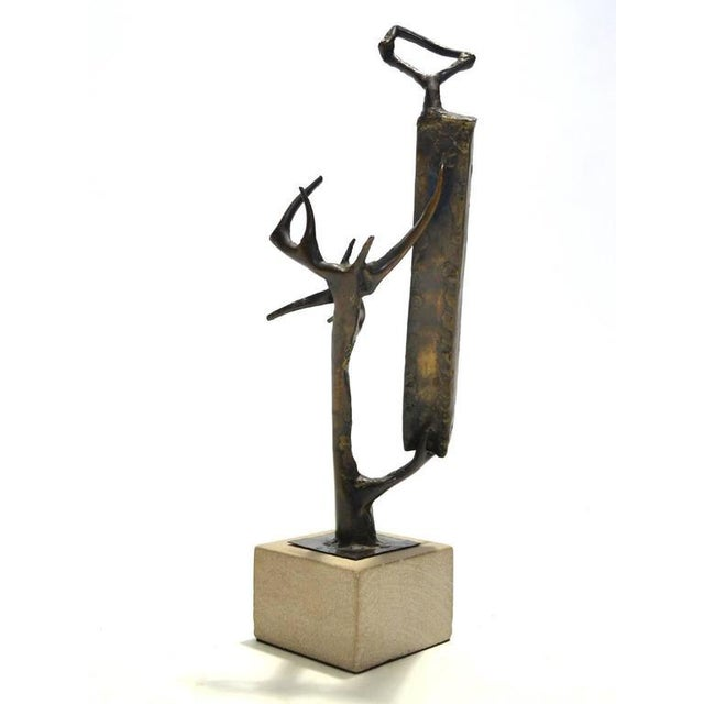 Abstract Bronze Sculpture by Clyde Ball For Sale In Chicago - Image 6 of 11