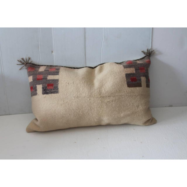 Fantastic Pair of Geometric Navajo Indian Weaving Saddle Blanket Pillows - Image 3 of 5