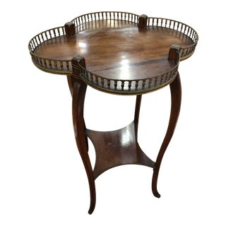 Petite Clover Shaped Gallery Top Table For Sale