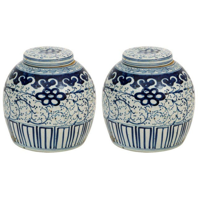 1980s 1980s Chinese Export Ginger Jars - a Pair For Sale - Image 5 of 5