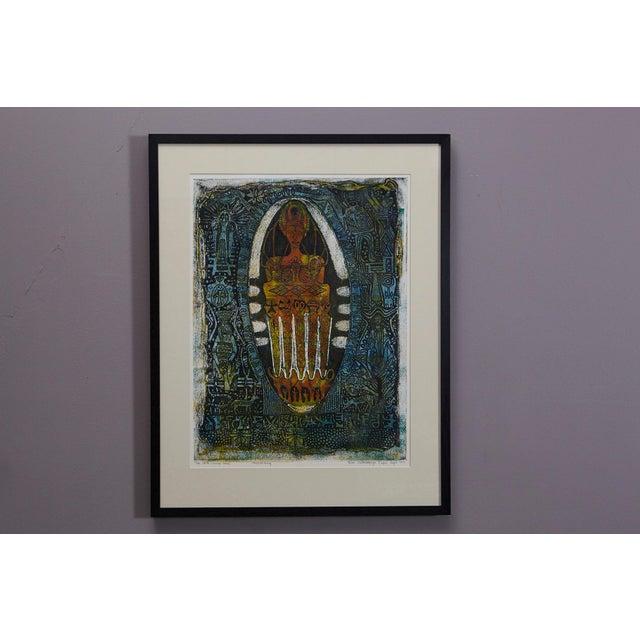 Bruce Onobrakpeya, Nigerian (1932) Ekpaen Mue'li Rame, Lagos, September 1971 Edition 6/15 Deep Etching, framed, signed,...