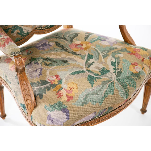 Mid 19th Century 19th Century Louis XV Carved Armchair For Sale - Image 5 of 7