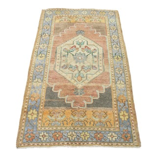 * Naqshi 3x5 Antique Turkish Vintage Area Rug For Sale