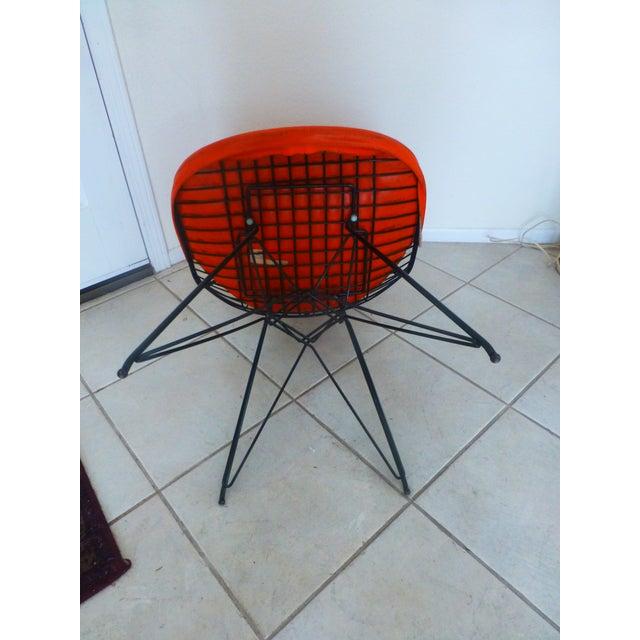 Metal Mid-Century Eames Wire Orange Bikini Chair For Sale - Image 7 of 10