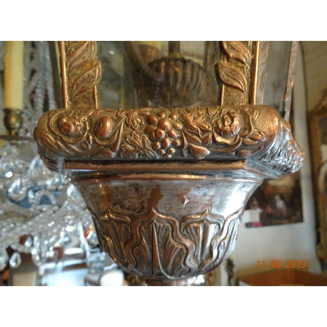 French Antique Vintage French Cherub Lantern For Sale - Image 3 of 9