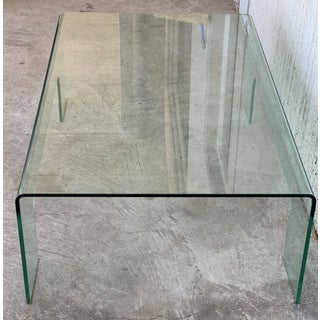20th Century Mid-Century Modern Rectangular Curved Glass Coffee Table Preview