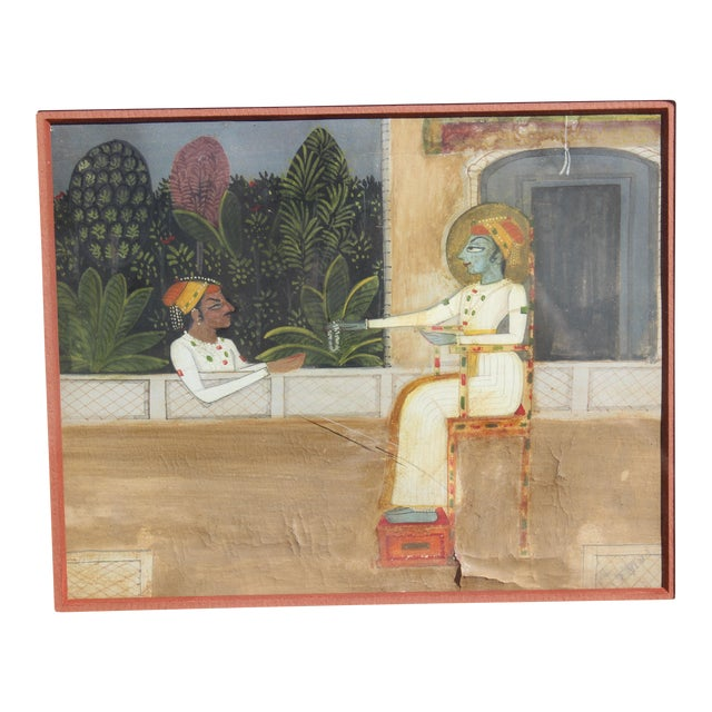 18th C. Indian Gouache Painting For Sale