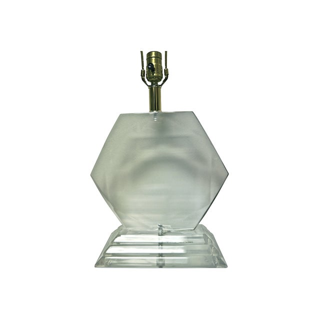 Van Teal Hexagonal Lucite Lamp - Image 2 of 6