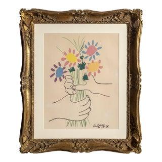 Picasso, Bouquet, Floral Print For Sale