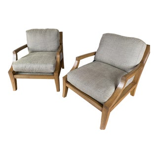 Modern A. Rudin Lounge Chairs- A Pair For Sale