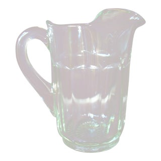 Vintage Classic Glass Pitcher For Sale