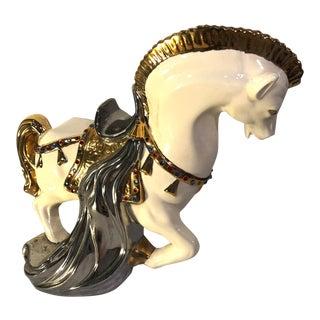1970's Vintage Arnel's Signed Ceramic Trojan Horse Figure For Sale
