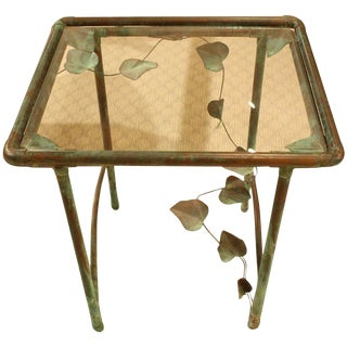 French Copper Garden Table For Sale