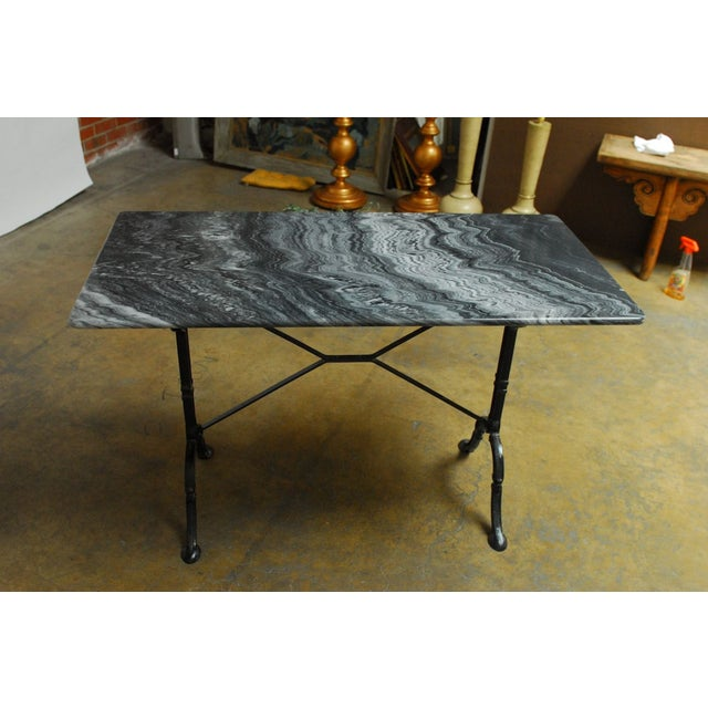 French Marble Bistro Table - Image 7 of 7