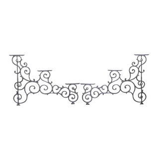 Traditional Iron Shelving Sides - a Pair For Sale