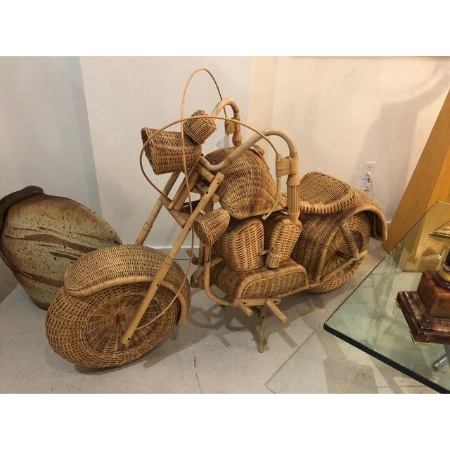 Vintage Wicker Motorcycle - Image 2 of 8