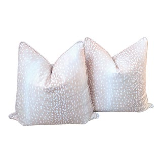 Blush Antelope Pillow Covers- a Pair For Sale
